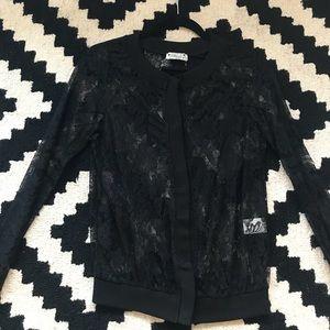 Black lace blouse NWOT